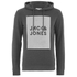 Jack & Jones Men's Core Take Hoody - Dark Grey Melange: Image 1