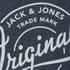 Jack & Jones Men's Originals Tones Sweatshirt - Navy Blazer Melange: Image 3