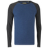Brave Soul Men's Osbourne Raglan Long Sleeve Top - Vintage Blue Marl: Image 1
