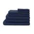 Highams 100% Cotton 7 Piece Towel Bale (550gsm) - Navy: Image 1