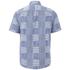Edwin Men's Short Sleeve Patchwork Shirt - Blue: Image 2