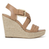 MICHAEL MICHAEL KORS Women's Giovanna Woven Wedge Sandals - Brown: Image 1