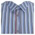 MSGM Men's Striped Long Sleeve Shirt - Blue: Image 3