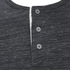 Brave Soul Men's Jeffrey Button Long Sleeved Top - Charcoal Marl: Image 3