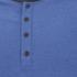 Brave Soul Men's Rasmus Grandad Long Sleeved Top - Ocean Blue/Charcoal: Image 3
