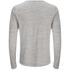 Brave Soul Men's Jeffrey Button Long Sleeved Top - Light Grey: Image 2