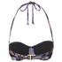 MINKPINK Women's Midnight Bloom Wide Strap Cupped Bikini Top - Multi: Image 2