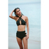 MINKPINK Women's After Dark Interlock Ring Front Bikini Top - Black: Image 2