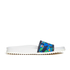Jil Sander Navy Women's Graphic Flowers Slide Sandals - Blue/Green: Image 1