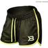 Better Bodies Women's Race Mesh Shorts - Black/Lime: Image 1