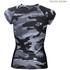 Better Bodies Women's Zipped T-Shirt - Grey Camo: Image 2