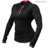 Better Bodies Women's Zipped Long Sleeve Top - Black/Pink: Image 1