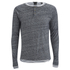 Scotch & Soda Men's Long Sleeved Grandad T-Shirt - Grey Melange: Image 5
