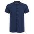 Scotch & Soda Men's Rib Collar Short Sleeve Shirt - Night: Image 1