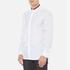 HUGO Men's Ewid Collar Detail Long Sleeve Shirt - White: Image 2