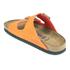 Birkenstock Women's Arizona Slim Fit Suede Double Strap Sandals - Orange: Image 4