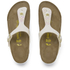 Birkenstock Women's Gizeh Shiny Snake Toe-Post Sandals - Cream: Image 2