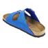 Birkenstock Women's Arizona Slim Fit Suede Double Strap Sandals - Blue: Image 4