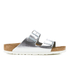 Birkenstock Women's Arizona Slim Fit Double Strap Sandals - Metallic Silver: Image 1