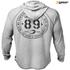 GASP Men's Long Sleeve Thermal Hoodie - Grey Melange: Image 2
