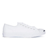 Converse Jack Purcell Unisex Leather Trainers - White/Navy: Image 1