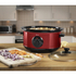 Swan SF17020ROUN Slow Cooker - Rouge - 3.5L: Image 2
