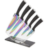 Tower T80703 5 Piece Knife Block with Acrylic Stand - Black: Image 1