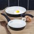 Tower T90920B Taper 2 Piece Ceramic Coated Frying Pan Set - Black: Image 2