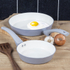 Tower T90920G Taper 2 Piece Ceramic Coated Frying Pan Set - Grey: Image 3