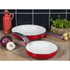 Swan SWPS2010RN 2 Piece Retro Frying Pans - Red - 20/28cm: Image 2