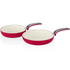 Swan SWPS2010RN 2 Piece Retro Frying Pans - Red - 20/28cm: Image 1