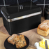 Swan SWKA1010BN Retro Bread Bin - Black: Image 2