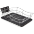 Tower T81400 Dish Rack with Tray - Black: Image 1