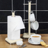 Swan SWKA1030CN Retro Mug Tree - Cream: Image 2