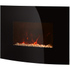Warmlite WL45022 Curved Glass Wall Fire - Black: Image 1