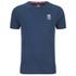 Crosshatch Men's Atlantic Back Print T-Shirt - Insigia Blue: Image 1