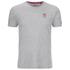 Crosshatch Men's Atlantic Back Print T-Shirt - Grey Marl: Image 1
