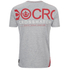 Crosshatch Men's Atlantic Back Print T-Shirt - Grey Marl: Image 2