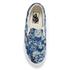 Vans Unisex Classic Slip-on Indigo Tropical Trainers - Blue/True White: Image 3