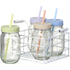 Parlane Spotty Jars with Straws (Set of 4): Image 1