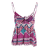 MINKPINK Women's Goodnight Darling Tie Front Top - Multi: Image 3