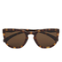 Calvin Klein Jeans Unisex Rectangle Sunglasses - Warm Tortoise: Image 1