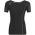 Skins DNAmic Women's Short Sleeve Top - Black/Limoncello: Image 1
