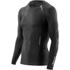 Skins A400 Men's Logo Long Sleeve Top - Black/Gold: Image 1