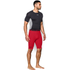 Under Armour Men's HeatGear Long Compression Shorts - Red/Black: Image 4