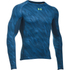 Under Armour Men's HeatGear Armour Long Sleeve Compression Shirt - Black/Blue: Image 1