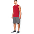 Under Armour Men's Tech Sleeveless T-Shirt - Red: Image 4