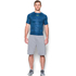 Under Armour Men's HeatGear Armour Printed Short Sleeve Compression Shirt - Blue/Yellow: Image 3