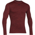 Under Armour Men's ColdGear Armour Twist Compression Crew Top - Red/Black: Image 1