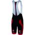Castelli Velocissimo Bib Shorts - Black/Red: Image 1